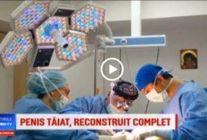 Echipa chirurgicala a clinicii Zetta a realizat prima reconstructie complexa de penis cu tesut propriu recoltat de pe antebrat, proteza siliconica maleabila si grasime proprie